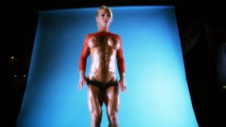 Ginger Martin super lean female muscle.