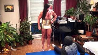Jana Linke-Sippl dominating a guy