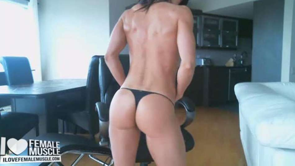 tight muscle booty on webcam