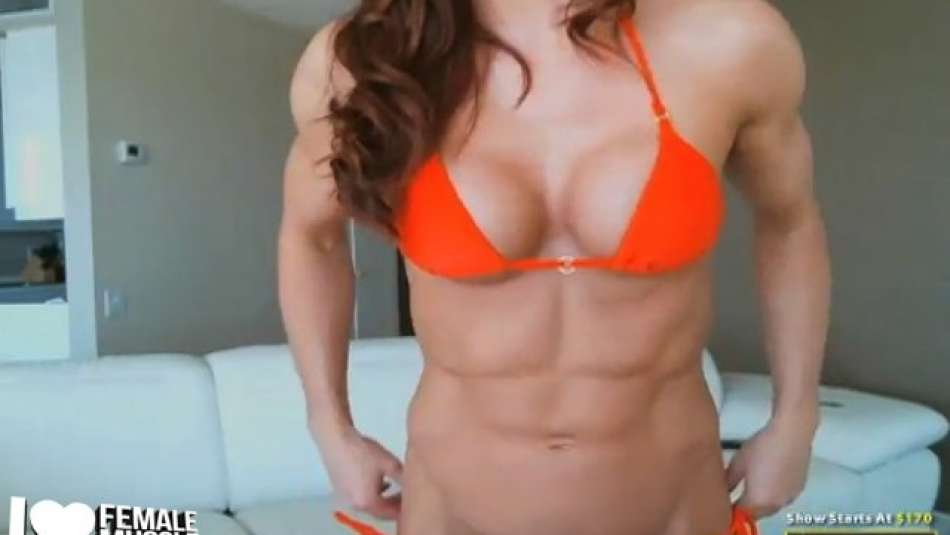 nice abs on female muscle girl