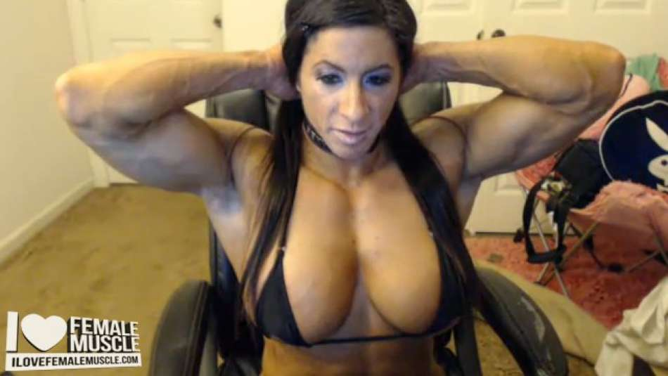 thick muscular woman angela salvagno webcam show