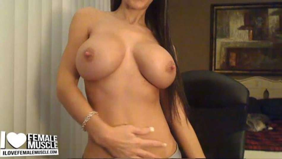 sexy topless cam girl showing off