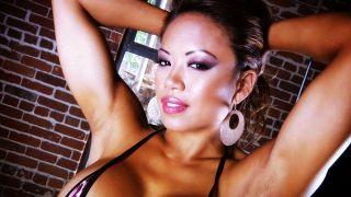 Beautiful Asian muscle babe Carla Maria Cadotte