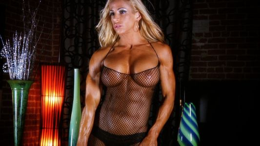 Jill Jaxen in a hot sheer mesh top.