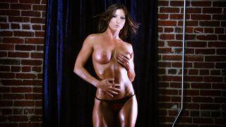 Ariel X hot topless fitness model.