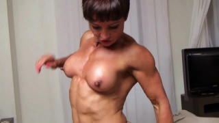 female bodybuilder wrestler Deadly Nightshade