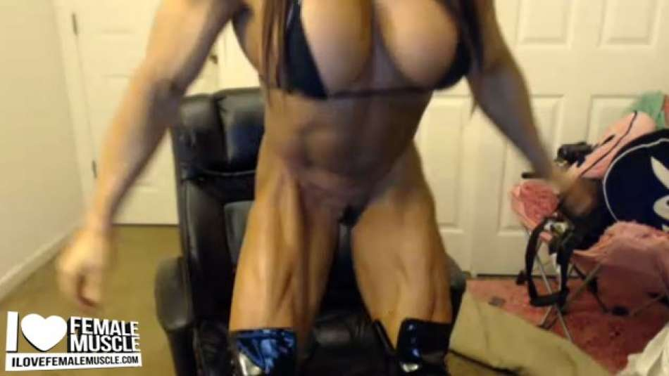 Angela Salvagno strong shredded female muscle
