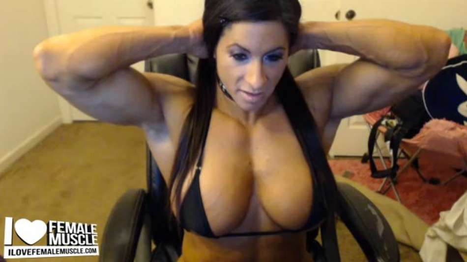 Angela Salvagno strong ripped female muscle