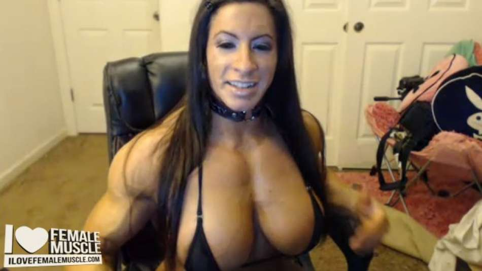 fbb Angela Salvagno hot ripped muscle webcam model