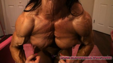 Angela Salvagno contest shape most muscular