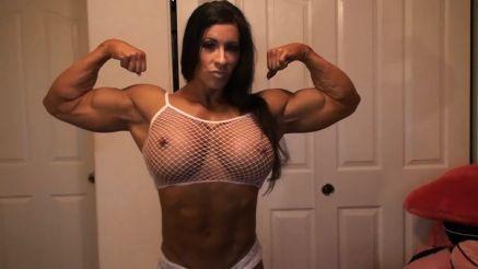 fbb flexing huge biceps