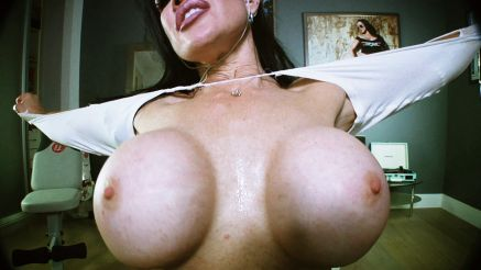 big tits busting out of shirt webcam girl