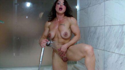 fbb naked wet in the shower.