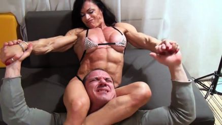 contest shape fbb mixed wrestling a guy