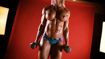 fbb contest shape topless workout