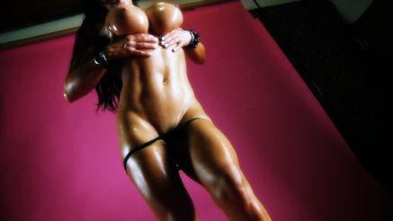 massive big tits fitness model