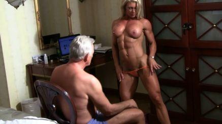 FBB strip tease topless