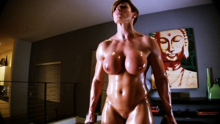 female bodybuilder nude workout perfect fake tits