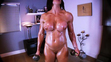female bodybuilder xxx naked workout