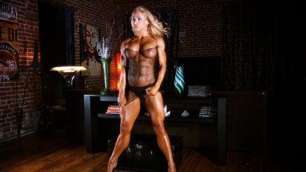 female bodybuilder with amazing muscular body