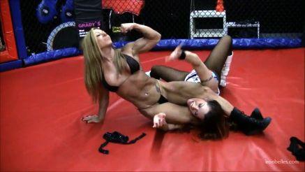 female bodybuilders wrestling