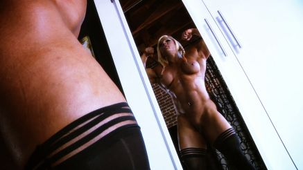 fbb lisa cross flexing nude in mirror