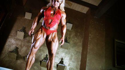 massive rock hard female bodybuilder