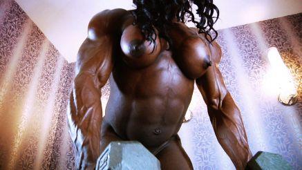female bodybuilder naked workout contest shape