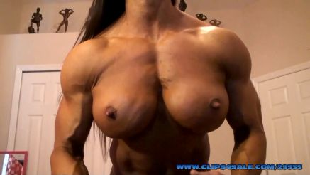 fbb angela salvagno showing off huge topless pecs