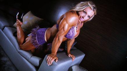 fbb Debi Laszewski huge muscular arms